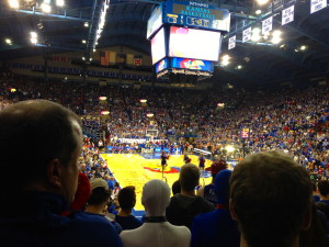 Allen Fieldhouse -- the best college basketball venue in America. (Don't let the Duke people tell you otherwise.)